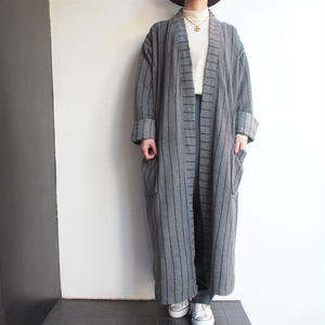 Stripe pile Gown