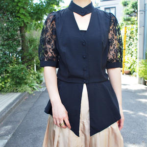 Made in W.Germany Black blouse