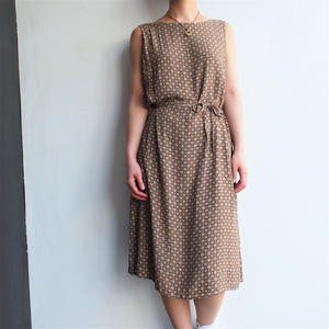 RIng patterned No sleeve one-piece