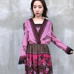 Made in Finland leaf printed dress