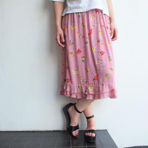 Made in USA Hat print skirt
