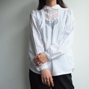Euro front tulle blouse