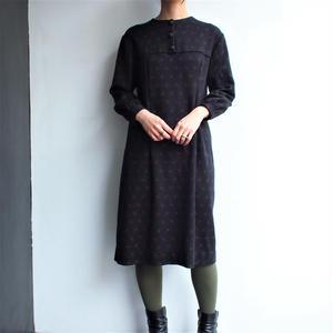 Black no collar dress