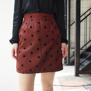 Flock print tight skirt