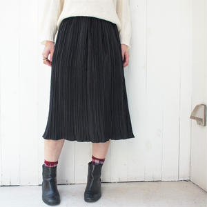 Black All pleats skirt
