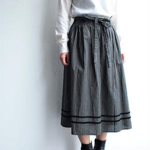 Velor tape cotton skirt
