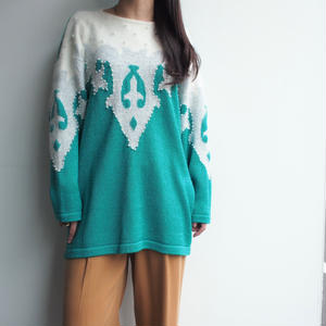 Green Angola混 異素材 knit