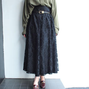 Made in Finland  lace long flare skirt