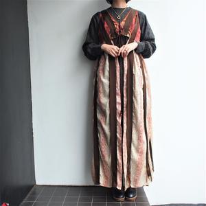 1970's Long gilet dress