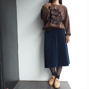Velours blue skirt