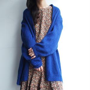 Long Blue knit cardigan
