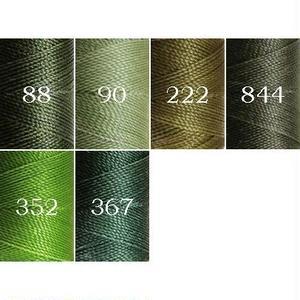 Linhasita社製ワックスコード<取り扱い52色> 0.75mm (ロウビキ紐 蝋引き紐 waxcord)|52本セット<送料無料でお届け!>