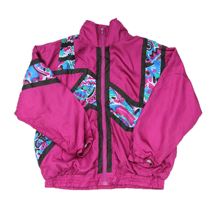 J.M active wear vintage nylon jacket