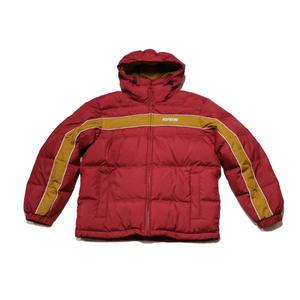 Supreme Stripe Panel Down Jacket Burgundy シュプリーム ダウン ジャケット バーガンディ M size