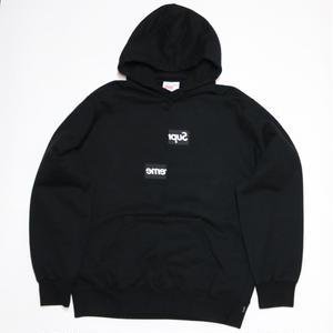 Supreme×COMME des GARCONS SHIRT 2018AW Split Box Logo Hooded Sweatshirt ブラック XL