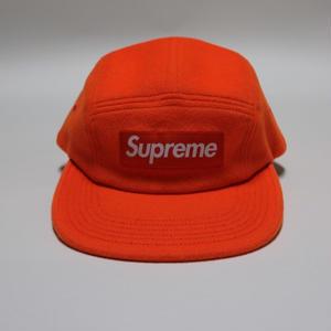 Supreme x Loro Piana Wool  Camp Cap キャンプキャップ  Neon Orange オレンジ