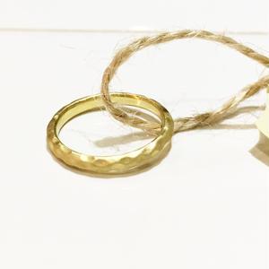 ROSANNE OUTLET | Ag925 K18イエローゴールドメッキ リング  #7.5