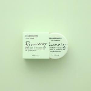 コトホギデザイン|hetekara 天然成分100% 練り香水(ローズマリー)