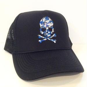 オリジナルSKULL メッシュCAP(blue)