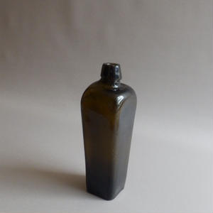 "NA349①Glass Gin Bottle ""AFRICAN""ジン・ボトル"