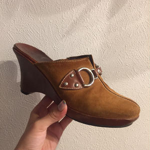 COLE HAAN sabot sandal suede