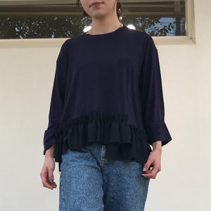 READY LADY  BRILLIANT TENCEL × GEORGETTE LONG SLEEVE TEE