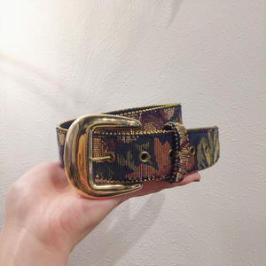 made in USA flower design belt