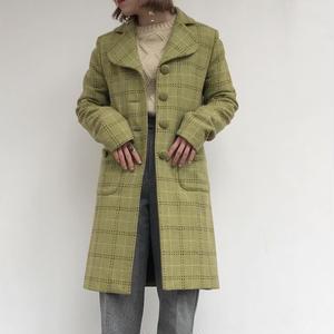 GREEN CHECK LONG COAT