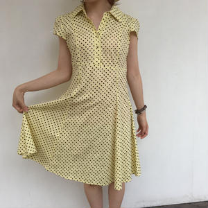 1980's made in USA dot shirt one-piece