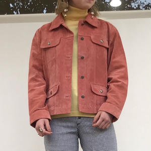 CHICO'S SUEDE LEATHER JACKET
