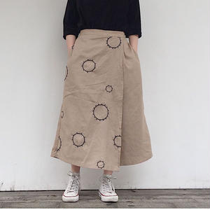 """NEW"" LILOU&LILY CIRCLE EMBROIDERY CROPPED PANTS"