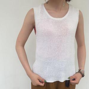 knit tank top white