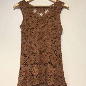 crocheting camisole brown