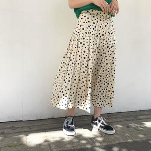 TiCA pleats dot skirt