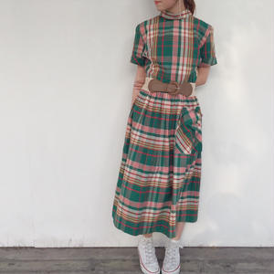1970's check one-piece