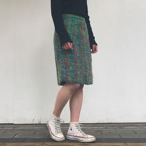 1970's TWEED SKIRT RAINBOW