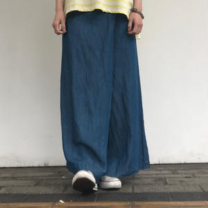 LILOU&LILY TENCEL/LINEN DENIM SKIRT PANTS