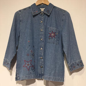 1970's denim shirts star button