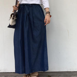 """NEW"" Lilou&Lily TENCEL DENIM WIDE PANTS DARK"