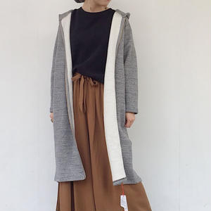 """NEW"" LILOU&LILY  RECYCLE TOP MELANGE SWEAT LONG FOODED COAT"