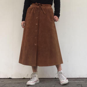 1970's SUEDE FLARE SKIRT