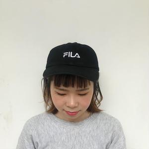 """""""FILA"""" 刺繍ロゴキャップ"""