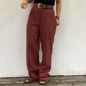 1980's tapered pants wine red