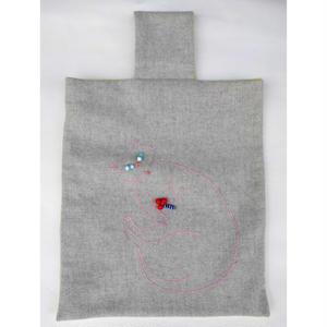 小代美穂:bag(猫の刺繍)
