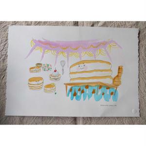 朝倉世界一作品『ホットケーキのおうさま:場面1』