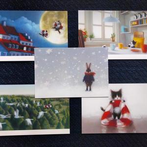 牧野千穂ポストカードセット:5枚組「絵本」