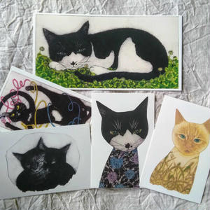 坂本千明ポストカードセット:猫(5枚)