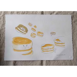 朝倉世界一作品『ホットケーキのおうさま:場面2』