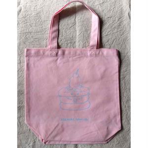 朝倉世界一:ホットケーキトートバッグ(ピンク+ブルー)