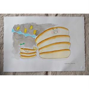 朝倉世界一作品『ホットケーキのおうさま:場面3』